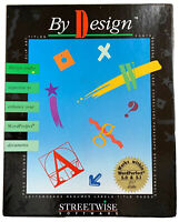 By Design WORDPERFECT 5.0 5.1 3 1/2 Floppy Disks Disc STREETWISE Software 1992