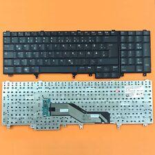 DE - Schwarz Tastatur ohne Mausstick, ohne Beleuchtung für Dell Latitude E5530