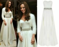Coast Aston Duchess Satin Bridesmaid Bridal Wedding Ball Gown Prom Dress UK 8