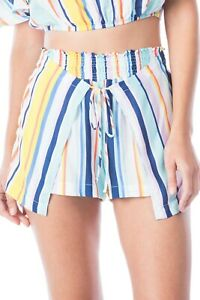 Nanette Lepore Wrap Shorts, Multi Color Stripes, Womens Size Small, NWTS