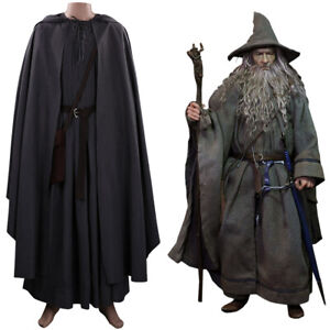 The Hobbit Gandalf Cosplay Costume Halloween Outfit Carnival Suit Full Set
