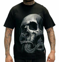 Sullen Men's Tyrrell Short Sleeve T Shirt Black   Hip Hop Skull Clothing Apparel