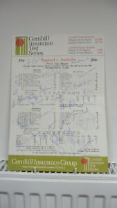 England v Australia 3rd Test at Headingley 1981 Fully Signed By Both Teams