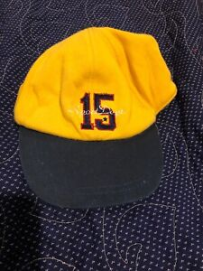 BABY GAP HAT SPORT DEPARTMENT 15 VINTAGE 90'S EUC NAVY AND YELLOW