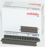 Märklin H0 24094-S C-Gleis gerade 94,2 mm (10 Stück) - NEU + OVP