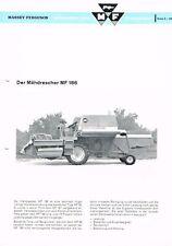 Massey- Ferguson - Der Mähdrescher 186, orig. techn. Info 1968