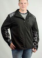 Moon Shine Camo Mens Black Jacket with Gray & Black Camo Coat (S M L XL 2XL 3XL)