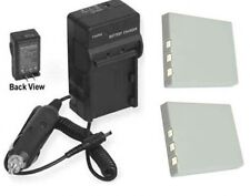 2X D-Li8 Batteries + Charger for Pentax A10 A20 A30 A36 A40 S4 S4i S5 S5i S5N S6