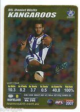 2007 Teamcoach Gold (95) Daniel WELLS Kangaroos