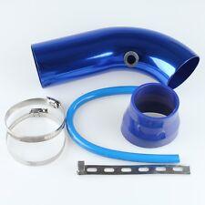 "Blue 3""/ 75mm Aluminium Air Intercooler Turbo pipe Cold Air Intake Piping System"