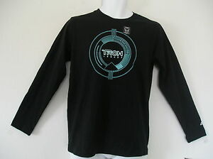 RARE~Adidas TRON LEGACY GID GLOW IN THE DARK wars Tee star T-Shirt~YOUTHS size S