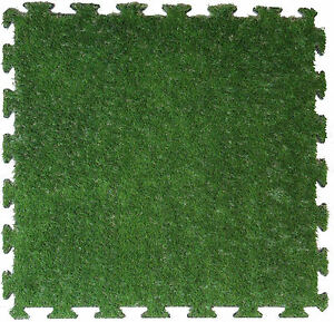 Artificial Grass - 1m X 1m XPE Foam Shock pad Backed -  SAVE 60% OFF RETAIL