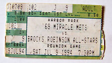 25th Anniversary NY 1969 Miracle Mets vs Brooks Robinson ALL-Stars game ticket