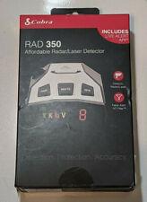 COBRA RAD 350 Affordable Radar Laser Detector New Sealed False Alert IVT Filter