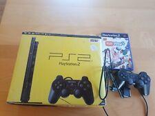 Playstation 2 mit 2 Controllern und 1 Spiel