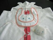 Baby Rabbit Japanese Towels (Antimicrobial&Deodorant Hood, Towelchief, Bib&Toy)