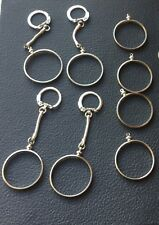 8 PACK 4 SILVER DOLLAR BEZELS & 4 DOLLAR  COIN HOLDER KEYCHAINS MORGAN IKE PEACE