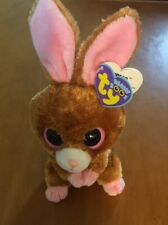 """Ty Beanie Boos  Brown and Pink Bunny Named Hopson 6"""""""