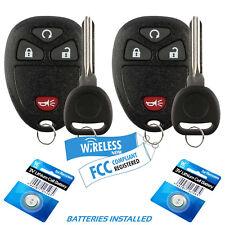 2 Car Remote For 07 08 2009 2010 2011 2012 2013 Chevy Silverado Key + Fob Alarm