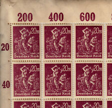Briefmarken Deutsches Reich Michel 241  1 Bogen komplett 100 Stk **<<<<<<<<<<<<<