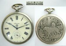 MOLNIJA Pocket Watch 3602 MOLNIA Wolves WOLF #506898 Soviet Russia USSR