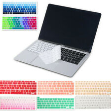 "Silicone Laptop Keyboard Skin Cover Case for Macbook Air Pro 13 15"" Protector"