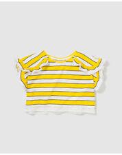 T-shirts, hauts et chemises jaunes pour fille de 2 à 16 ans en 100% coton, 6 - 7 ans