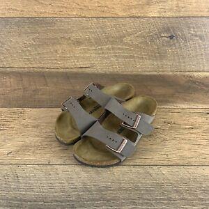Birkenstock Arizona Kids 0552893 Mocha Narrow Fit Sandals 33 EU, Youth Size 2 US