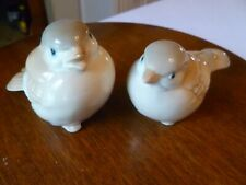 Pair of Bird Figurines Porcelain Homco Japan Grey/Beige Sparrow Spring Decor