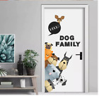 Cartoon Dogs Family Wall Stickers Animals Wall Decals 50x70cm Door Home Decor