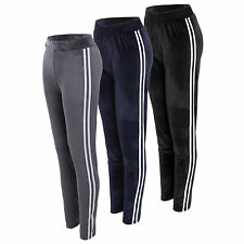 Ladies Velore Jogger Tracksuit Pants Active Gym Yoga Fitness Bottoms 8-16