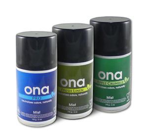 ONA Mist 170g 3 Scents Hydroponic Odour Control Aerosol Neutraliser