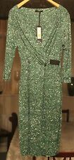 BNWT MARKS & SPENCER SIZE 6 AUTOGRAPH LADIES DRESS £55 RETAILS GREEN MIX/LINED