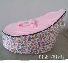 Canvas Pink Birds Babyinfant Bean Bag Snuggle Bed Portable Seat Without Filling