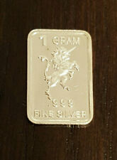 1 Gram Bullion Bar .999 Silver Unicorn Precious Metal Jewelry Investment / Scrap