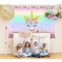 Rainbow Unicorn Themed Photo Backdrop Kids Birthday Party Baby Show Background