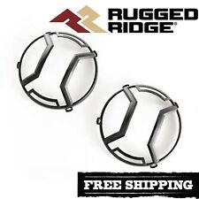 Rugged Ridge Textured Black Elite Euro Head Light Guards 2007-2018 Wrangler JK