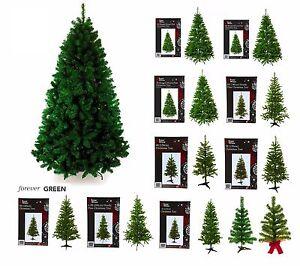 PREMIUM Plastic PINE CHRISTMAS TREE Long Lasting High Office Home Decoration LOT