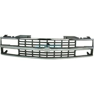 New Grille Chrome With Black Inserts Fits 1988-1993 Chevrolet C1500 GM1200142