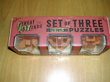 GREAT MINDS SET OF 3 WOODEN  PUZZLES  -  HALLEYS  / GALILEOS  / KEPLERS  - BNWT