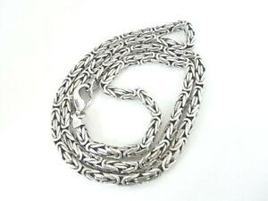 Vierkant Königskette aus 925 Silber - Silberkette  ca. 58,35 g