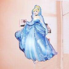"34"" Cinderella shaped foil Disney princess balloon 86cm x 52cm 34"" x 20"""