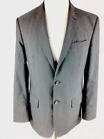 Joseph Jos A Bank Mens Slim Fit Sport Coat Sz 40R Gray Wool Blazer Narrow Stripe