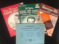 Lot of 4 Assorted Organ Sheet Music
