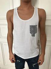 ASOS Tanktop Top Shirt ärmellos Unterhemd weiß Gr. M 48% Baumwolle 52% Polyester