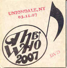 DVD - The Who - Uniondale, NY 03-11-07