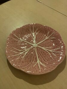 BORDALLO PINHEIRO Portugal CABBAGE Pink pattern Salad  Dessert Plate 7-1/2""