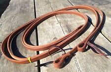 """5/8"""" X  7 1/2 ft oiled harness leather Western split reins made in USA"""