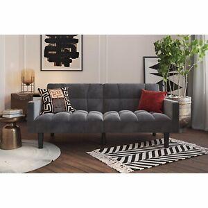 DHP Cooper Modern Sectional Sofa, Gray Line