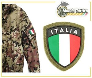 Toppa Patch Scudetto Italia Crest verde pvc uniforme militare bandiera Italiana